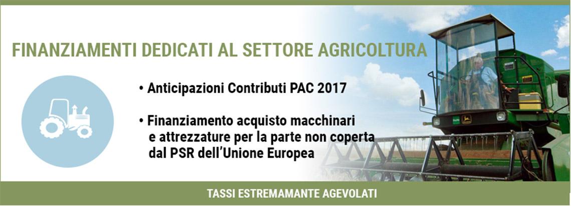 Finanziamenti dedicati al settore agricoltura